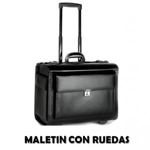 comprar maletin ejecutivo con ruedas barato piel